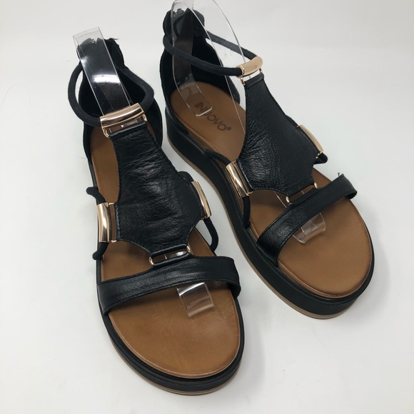 info for d25f9 43d5e Inuovo Italian Leather Flatform Gladiator Sandals